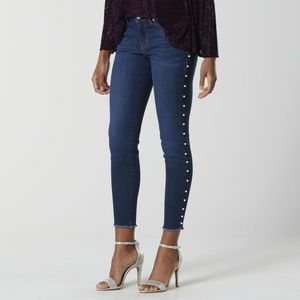 Bongo juniors embellished dark wash jeans